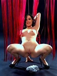 Nikita Bellucci stripping and toying in studio!