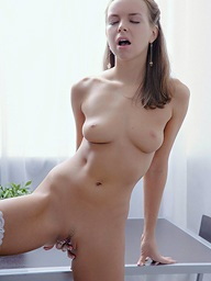 Carre fingering trimmed pussy