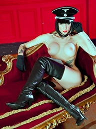 Peachy ambit skinned stunner Sofia Valentine, dressed..